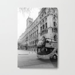 Madrid City Tour BW Metal Print
