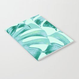 Tropical Monstera Leaves Dream #4 #tropical #decor #art #society6 Notebook