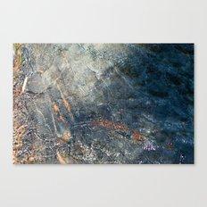 Water, Iron & Stone (Fallen Leaf Lake, California) Canvas Print