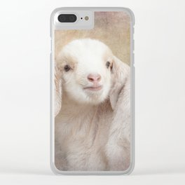 Baby Lamby Clear iPhone Case