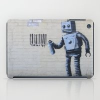 banksy iPad Cases featuring Banksy Robot (Coney Island, NYC) by Limitless Design