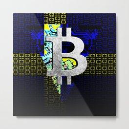 bitcoin sweden Metal Print