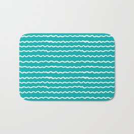 Turquoise Waves Bath Mat