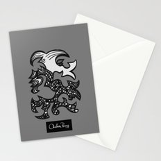 Kissing Dragon Black and white Stationery Cards