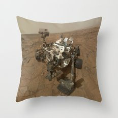 NASA Curiosity Rover's Self Portrait at 'John Klein' Drilling Site in HD Throw Pillow