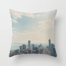 Looking down on the city ... Throw Pillow