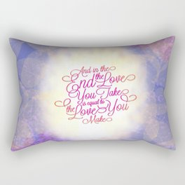 TYPOGRAPHY DESIGN Rectangular Pillow