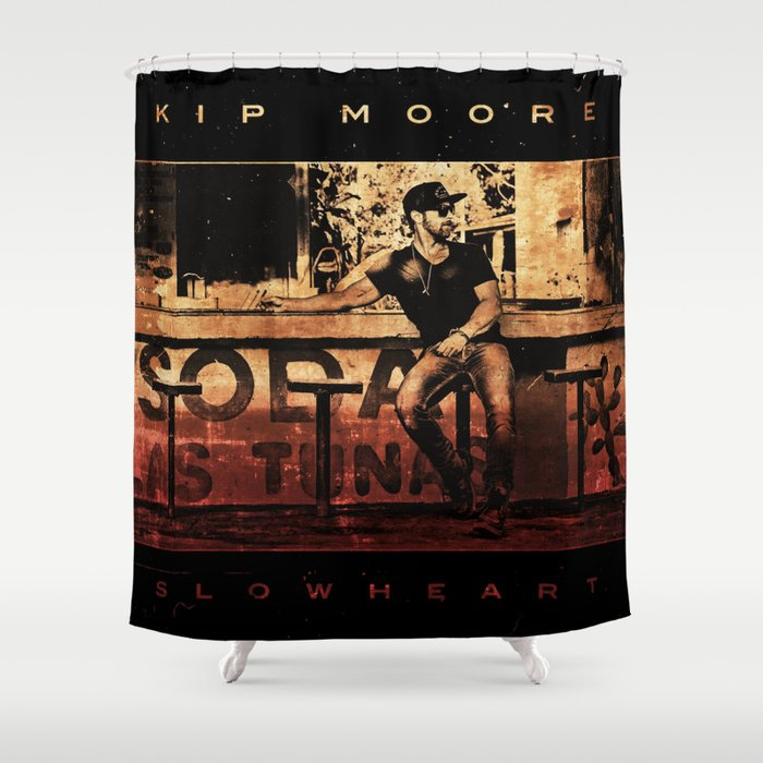 kip moore slow heart tour 2019 kepiting Shower Curtain