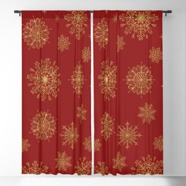 Assorted Golden Snowflakes Blackout Curtain