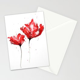 Poppy blooming 3 Stationery Cards