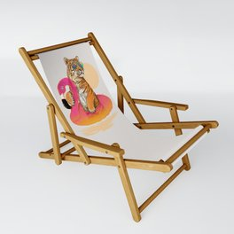 Chillin (Flamingo Tiger) Sling Chair