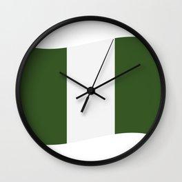 nigeria flag Wall Clock