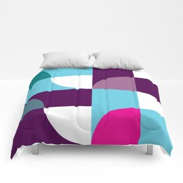 Geometric Pattern 5 (blue purple) Comforters