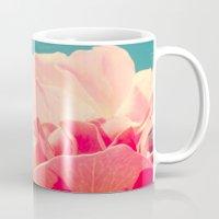 shabby chic Mugs featuring Shabby Chic Rose Photograph by Scarlett Ella