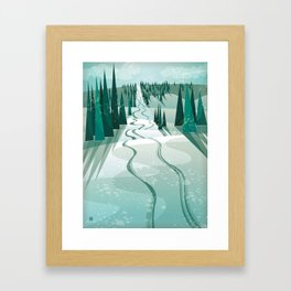 Winter Slope Framed Art Print