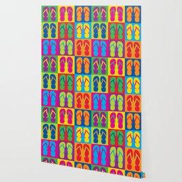 Pop Art Flip Flops Wallpaper