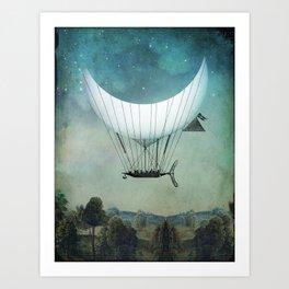 Moonship Art Print