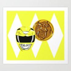 Yellow Ranger Art Print
