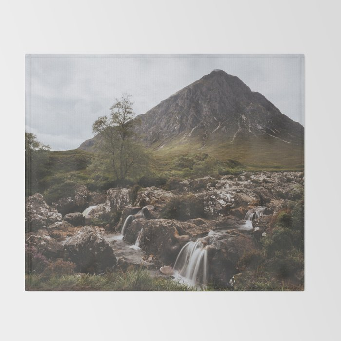 Famous Etive Mor - Landscape and Nature Photography Throw Blanket
