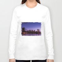 brooklyn bridge Long Sleeve T-shirts featuring Brooklyn Bridge by hannes cmarits (hannes61)