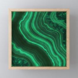 Malachite Texture 08 Framed Mini Art Print