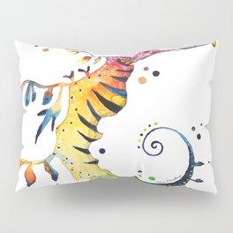Seahorse watercolor Pillow Sham
