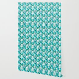 mermaid scales, turquoise shimmer Wallpaper