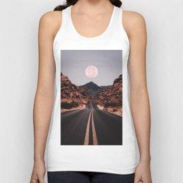 Road Red Moon Unisex Tank Top