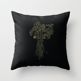 Sacred Flowers Throw Pillow
