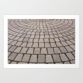 Radial Pavement Tiles Art Print