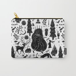 Yule, Birth of the Sun - Black Carry-All Pouch