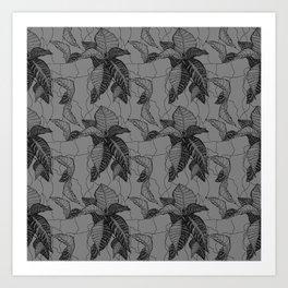 Croton in Grey Art Print