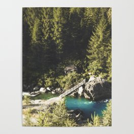 Mallero Mountain River - Lombardia - Italy Poster