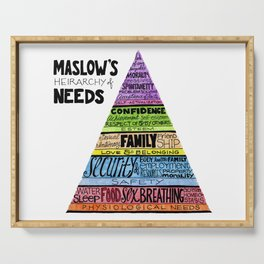 Maslow's Hierarchy of Needs, II Serving Tray