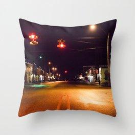 Empty town Throw Pillow