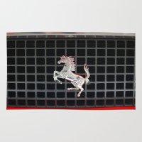 ferrari Area & Throw Rugs featuring Ferrari 2 by Rainer Steinke
