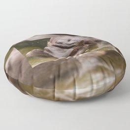 Huge bored Hippopotamus Floor Pillow