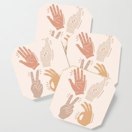 I Don't Know What to Do With My Hands Coaster