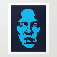 christopher walken Art Prints featuring Walken by Aaron Synaptyx Fimister
