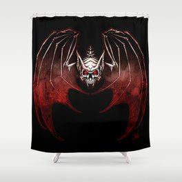 Thee Vampire Guild Bat Icon Shower Curtain