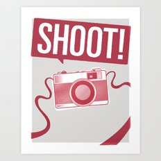 shoot! Art Print