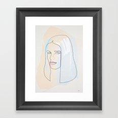 One Line Ali Mac Graw Framed Art Print