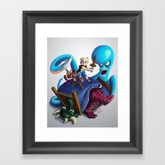 Adventures of TJ and Skweek Framed Art Print