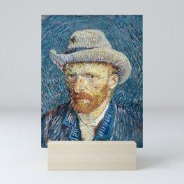 Self portrait with grey felt hat by Vincent van Gogh, 1887 Mini Art Print