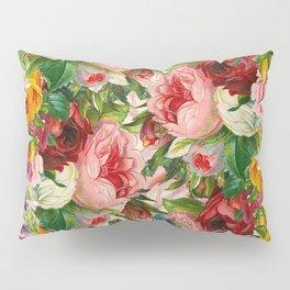 Colorful Floral Pattern | Je t'aime encore Pillow Sham