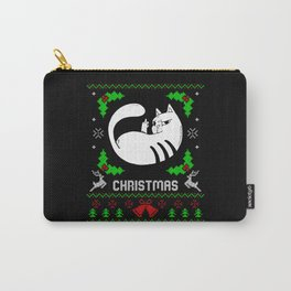 Middle Finger Kitten Ugly Christmas Carry-All Pouch