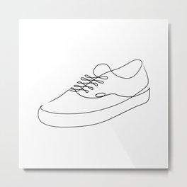 Sk8r Boi - Single line art Metal Print