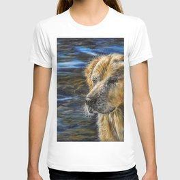 One Wet Golden Retriever by Teresa Thompson T-shirt