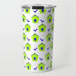 Bluebird and birdhouse Travel Mug