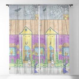 Trick or Treat II Sheer Curtain